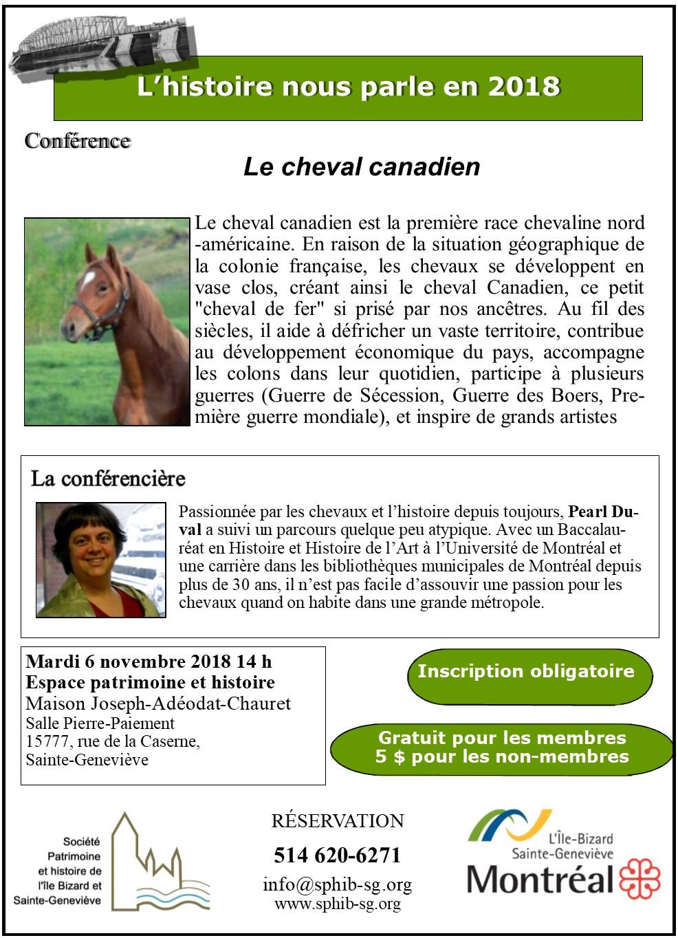 Cheval canadien 8.5 X 11