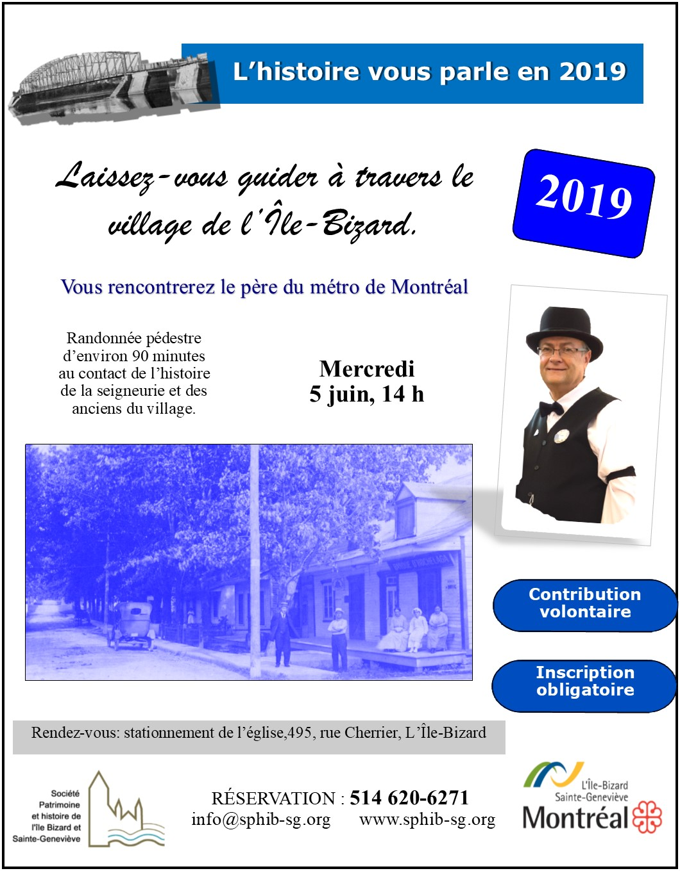 Visite village île Bizard, 5 juin, 8.5 X 11
