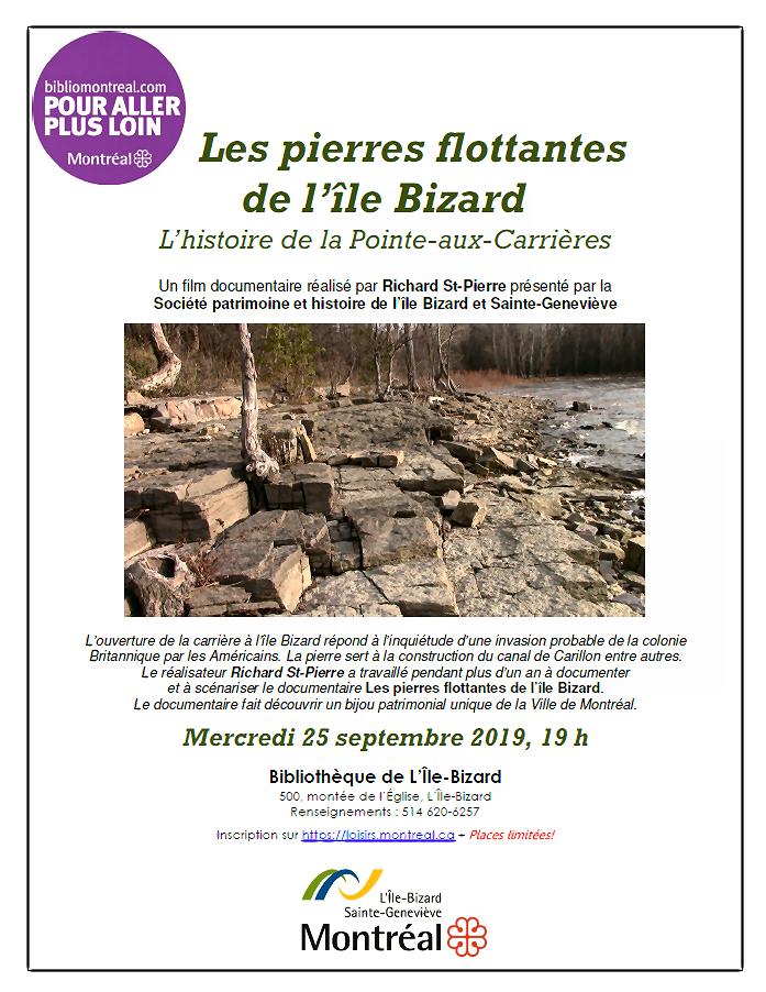 Affiche Bibliomontréal Pierre-flottante 2019