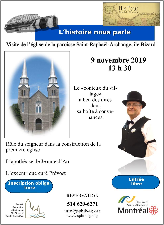 Visite de l'église St-Raphaël, 8.5 X 11-Nov-19