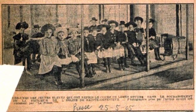 1905-sous-bassement sacristie de l'église Ste-Geneviève