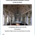 Publicité visite de l'église, 11 septembre 2021