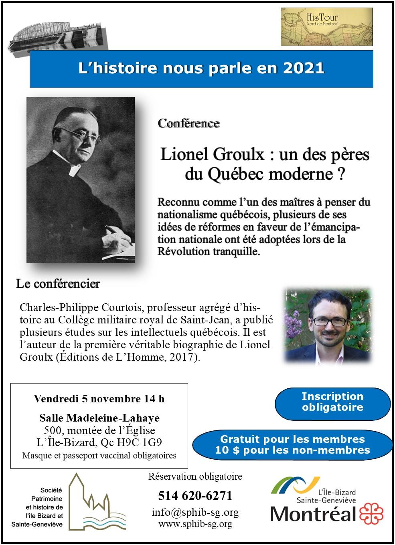Lionel-Groulx, père du Québec moderne[1482]